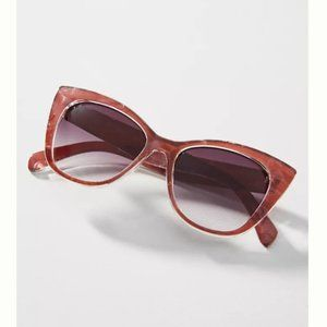 NWT Anthropologie Cat-Eye Sunglasses, Pink